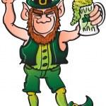 St Patrick's Day Leprechaun dancing — Stock Vector #46034175