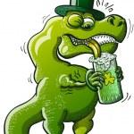 Постер, плакат: Green Tyrannosaurus Rex