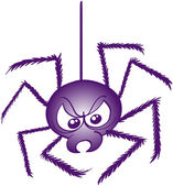 Terrific purple spider — Stock Vector