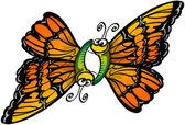 Couple of butterflies — Stock Vector
