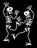 Couple of skeletons — Stock Vector