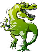 Tyrannosaurus Rex laughing — Stock Vector