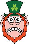 Leprechaun shaking nervously — Stock Vector