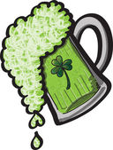 St Patrick's Day Beer — Stock Vector