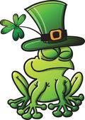Happy Leprechaun Frog — Stock Vector