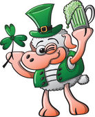St Patrick's Day Sheep winking — Stock Vector