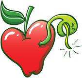 Solucan elma dışarı gidiyor — Stok Vektör