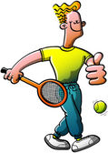 Cool tennis man — Stock Vector