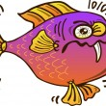 Постер, плакат: Fish with a long fang