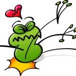 Frog in love — Stock Vector #46195831