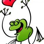 Frog in love — Stock Vector #46195841