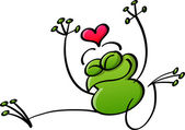 Žába v lásce — Stock vektor