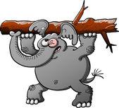 Starke graue elefant — Stockvektor