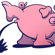 Pink pig with long snout — Stock Vector #50118013