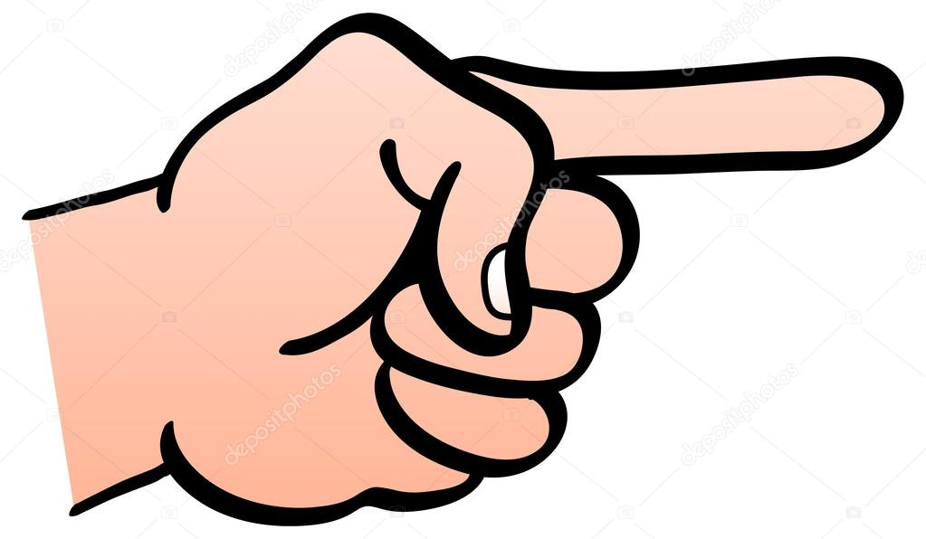 Mão Esquerda, Mostrando O Punho Fechado Com O Dedo