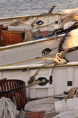 French schooners at Penns Landing — Stockfoto