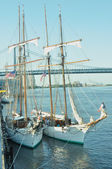 French Schooners at Penn's Landing 2 — Foto de Stock