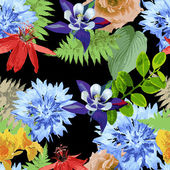 Exotic flowers — Stock Vector
