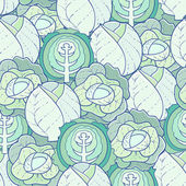 Pattern of cabbage — Wektor stockowy