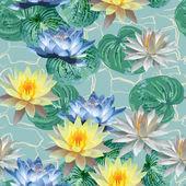 Pattern of beautiful lotuses — Stock Vector