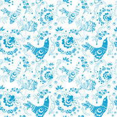 Stylized bird pattern — Stock Vector