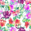Pattern of exotic flowers — Stock Photo #45370097