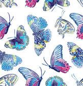 Pattern of exotic butterflies — Foto de Stock