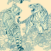 Style of Japanese prints — Wektor stockowy