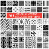 Fifty original seamless pattern — Stok Vektör