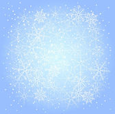 Winter pattern of snowflakes — Stock Vector