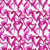 Bezešvé vzor srdce — Stock fotografie