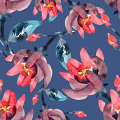 Pink flowers seamless pattern — Stock Photo