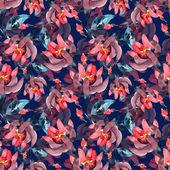 Roze bloemen naadloze patroon — Stockfoto