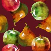Patrón sin costuras de frutas — Foto de Stock