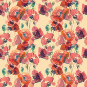 Poppies  pattern — Foto Stock