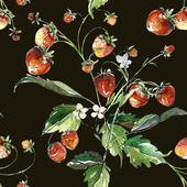Strawberries pattern — Stock Photo