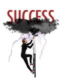 Scaling to success — Stock Photo