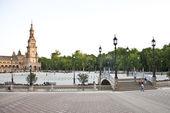 Plaza di espana in seville — Stock Photo