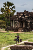 Cambodian landscape in angkor wat — Stock Photo