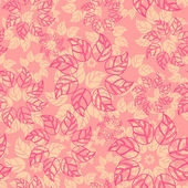 Vector endless background with leaves — Vecteur