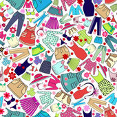 Vector pattern with ladies wear for use in design — Stock Vector