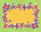 Vektor bakgrund med fjärilar — Stockvektor