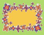 蝶とのベクトルの背景 — ストックベクタ