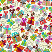 Vector pattern with presents for use in design — Stock Vector