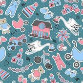 Vector pattern on children's theme — Stock Vector