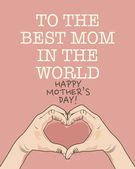 плакат на день матери — Cтоковый вектор
