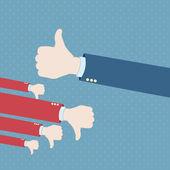 Thumb up hand win — Stock Vector
