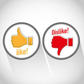 Like dislike icon — Stock Vector