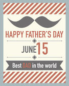 Vector fathers day card — Stock Vector
