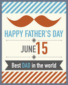 Father's Day Mustache — Vector de stock